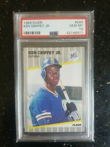 Ken Griffey Jr 1989 Fleer Base Rookie Card Psa 10
