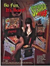 Bally SCARED STIFF w/ ELVIRA 1996 Original NOS Pinball Machine Flyer Halloween