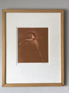 VINTAGE MODERN EXPRESSIONIST LITHOGRAPH -SIGNED- ABSTRACT MODERNISM MYSTERY