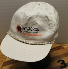 MIVACRON (MIVACURIUM CHLORIDE) MEDICINE MUSCLE RELAXANT HAT BEIGE GOOD CONDITION