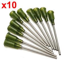 X10 14 Gauge 38mm Dispensing Syringe Needle Blunt Tip Luer Lock for Glue Ink Fil