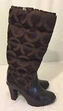 Coach Boots Womens Size 6 Brown Heeled Knee High Boots Coach Loryn Q385