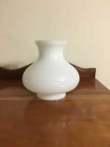 Milk Glass Chimney Kerosene oil lamp shade globe hurricane 5.5 tall