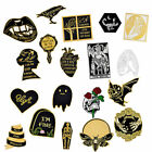 Halloween Death Badge Satan Creep Ghost Skeleton Demon Goth Witch Brooch Pins