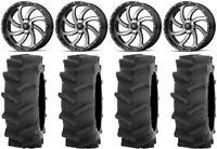 "MSA Mach Switch 20"" UTV Wheels 35"" R4 Tires Honda Pioneer 1000 / Talon"