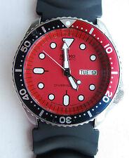 Vintage Seiko 200m Rojo Dial Automático Pepsi Engaste SKX 7s26-0020 est Julio 97
