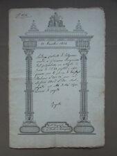 Rogito Manoscritto Solignano Modena Terra Corbelli Bergonzini 1854 Diritto