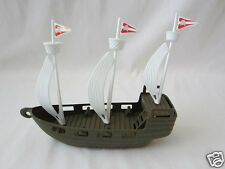 1 Plastic Pirate Toy Ship Party Decor Goody Loot Bag Favor Cake Topper Supply
