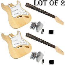 LOT OF (2) - PGEKT18 PYLEPRO Unfinished Electric Guitar Kit