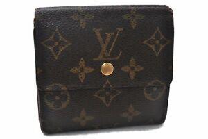 Auth Louis Vuitton Monogram Porte Monnaie Billet Carte Credit M61652 LV B2184