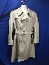 Mens Trench Coat 44R London Fog Spring Fall Winter Beige Zip Out Winter Liner