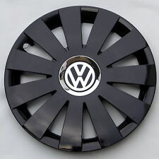 """Black gloss 16"""" hubcaps covers  wheel trims to fit  Vw ,Beetle,Golf,Passat"""
