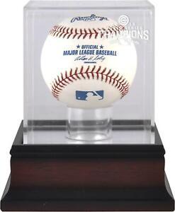 Chicago Cubs 2016 MLB World Series Champions Mahogany Logo Baseball Display Case