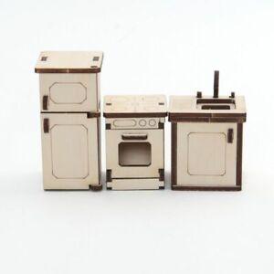 Küche aus Holz für unsere Puppenhäuser – Kreativ-Set