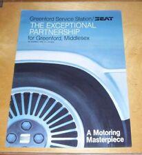 Seat Ibiza Malaga spécial revendeur question sales brochure Greenford station service