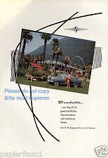 Borgward Isabella Reklame von 1959 Italien Pool Urlaub Reisen 50er Werbung ad ßß