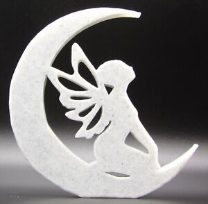Fairy in Moon Home Ornament 10x10x1cm - Various Colours