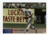 2020 Topps Stadium Club #110 ERNIE BANKS Chicago Cubs HOF PHOTO BASEBALL CARD