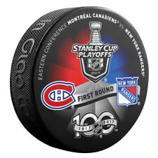 2017 MONTREAL CANADIENS vs NEW YORK RANGERS Stanley Cup Playoff Hockey Puck