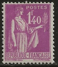 N° 371**  1Fr40 LILAS TYPE PAIX
