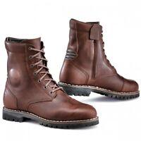 TCX Hero WP Waterproof Motorcycle Motorbike Leather Zip Boots - Brown