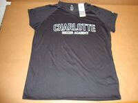 innovative design c136f 9b1ae Adidas Charlotte Scoccer Black Climalite Womens Short Sleeve V-Neck Tee  Shirt