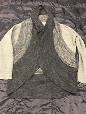 Women's Blue Gray Black Long Open Sweater Cardigan Jacket by Sisters size Small