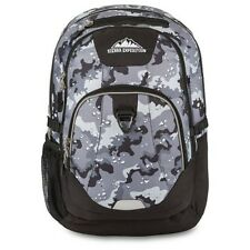 BACKPACK / HIGH SIERRA EXPEDITION / BLACK GRAY CAMO LAPTOP POCKET / NWT!