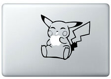 Pikachu Pokemon Apple Mac Book/Air/Retina black vinyl sticker. Australia made