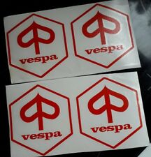 SALE of vespa scooter leg shield body panel wheel arch  stickers 100mm red
