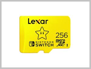 Lexar 256GB Micro SDXC UHS-I Card for Nintendo Switch + SD & USB Adapter