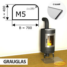Kamin Glasbodenplatte Funkenschutz Kaminplatte Glas Ofen Platte Bodenplatte - M5