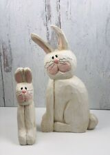 Midwest of Cannon Falls Bunny Rabbit Easter Figurine Set of 2 Eddie Walker
