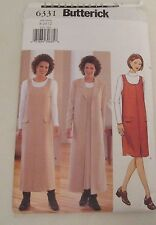 Butterick Women's Duster and Jumper Pattern  # 6331 Size 8-10-12 (GM1)