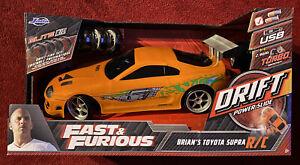 1:10 Fast & Furious Brians Toyota Supra Jada Elite R/C Radio Control Drift