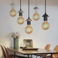 E27 Screw Ceiling Rose Light PVC Fabric Flex Pendant LampHolder Fitting Lighting