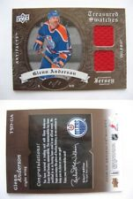 2008-09 UD Artifacts TSD-GA Glenn Anderson 1/1 treasured swatches dual jersey