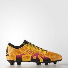 Adidas x 15+ primeknit FG/ag Limited botas de fútbol oro amarillo/negro/rosa aq5143