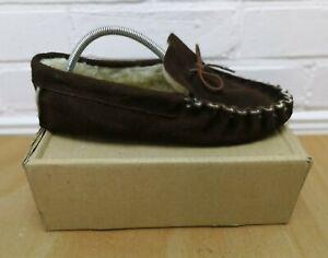 Vintage Men's Sheepskin Moccasin Slippers Size UK 9