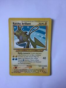 Carte Pokémon, Raichu Brillant Secret Rare 70 PV 111/105, Quasi-Neuf