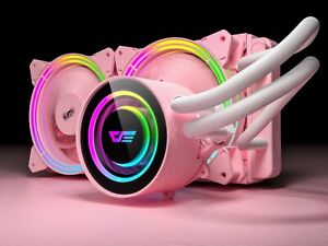 DarkFlash TR-240 PINK AIO RGB CPU WATERCOOLER 240mm liquid cooler SYNC INTEL/AMD