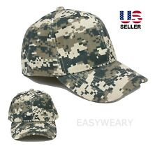 Camo Cap Digital Camouflage Baseball Hat Army Military Mens Womens Washed  Visor dfd1b8f3e078