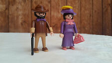 Playmobil Seltene Figuren Ehepaar aus Puppenhaus 5305 Nostalgie Rosa Serie 1900