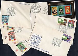 1974 SOCCER WORLD CUP IN GERMANY URUGUAY SET & S/S WITH RARE FDC CANCELLATION
