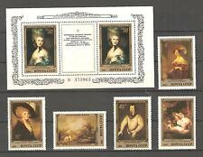 USSR 1984...MNH ** YT 5081-85 + S/SHEET - HERMITAGE, PAINTING BY ENGLISH ARTISTS