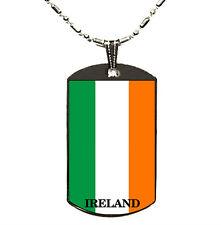 IRELAND Flag Polymer Glazed Color Dogtag Dog Tag
