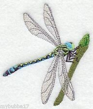 Dragonfly and Flowerbud SET OF 2 BATH HAND TOWELS EMBROIDERED by laura