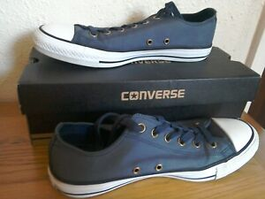 Converse All Star Ox Wash Grey/White/Black Trainers Size 9/43