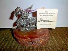 Comstock Creations Fantasia Collection Pewter Dragon Sculpture