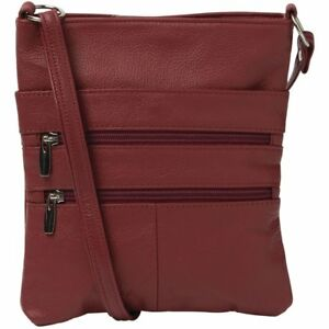 Cobb & Co Claudine Leather Multi Zip Crossbody Bag  All Handbags